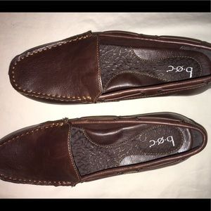 Brown leather diving loafers size 8M